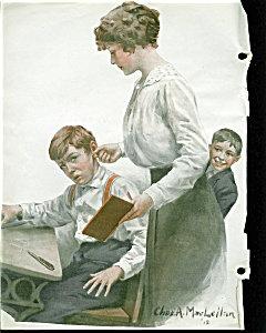 Prints: Charles Maclellan School Teacher With Class