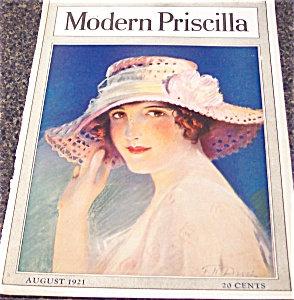 Modern Priscilla Magazine Cover Art :frank Desch Summer Hats