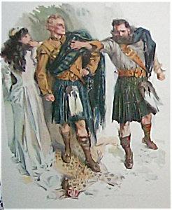 H C Christy Vintage Print Scottish Warriors