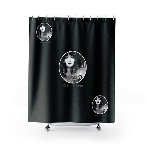 Edgar Allen Poe Black Shower Curtain Lenore Gothic Bathroom Decor The Raven
