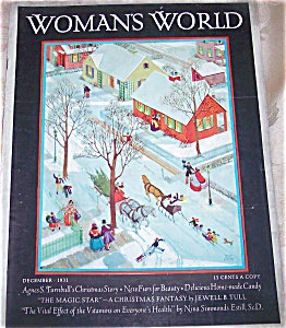 Vintage Christmas Women's World Magazine Miriam Story Hurford