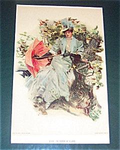 Victorian & Edwardian Ladies Prints: Parasol: Hc Christy