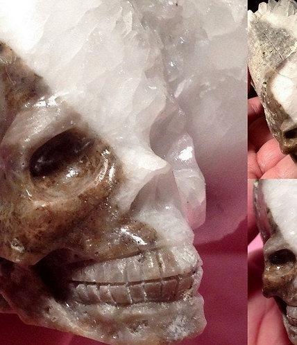"4.6"" Large Activated Quartz Crystal Cluster Skull Sculpture"