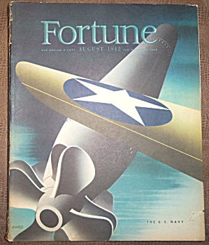 Vintage Navy Fortune Magazine August 1942 Wwii Booklet