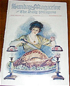 F. Earl Christy Print Magazine Cover Thanksgiving Dinner
