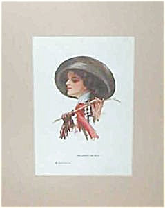 Victorian Equestrian Prints: Harrison Fisher Lady At The Races