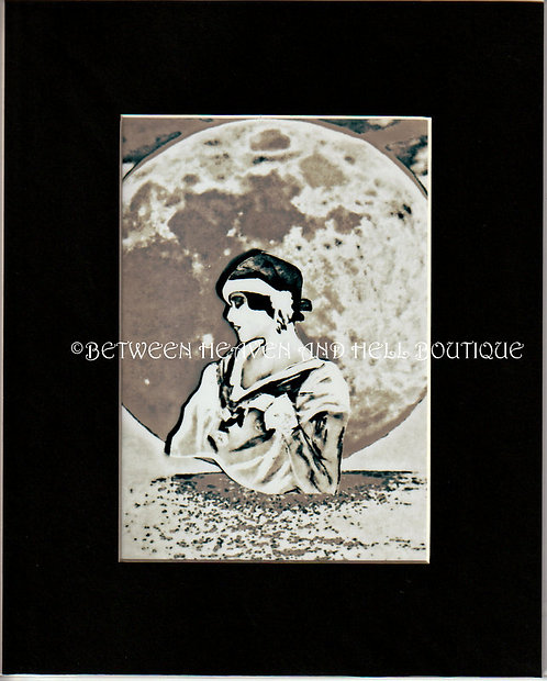 8x10 Giclee Print Sexy Woman Full Moon Maidens Moonlight Magick Art Deco Lady