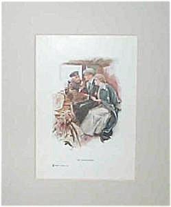 Vintage Harrison Fisher Art Print The Honeymoon