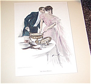 Antique Cooking & Kitchen Art Prints: Victorian Harrison Fisher
