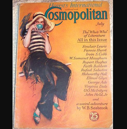 1931 Erte, John Held Jr, Harrison Fisher Art Deco Cover Cosmopolitan Magazine