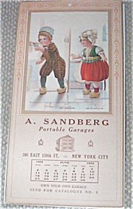Vintage June 1922 Art Calendar Dutch Boy & Girl