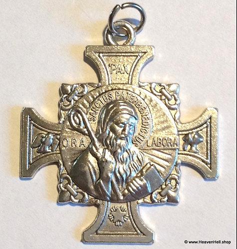 Large Maltese Cross Saint Benedict Protection Pendant Catholic Religious Jewelry