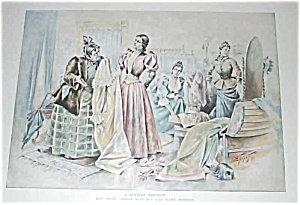 Antique Prints: Illustrations: Fashion: Sgn Ehrhart 1893