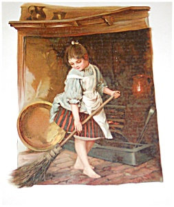Antique Victorian Lithograpgh: Children Prints : 1800's