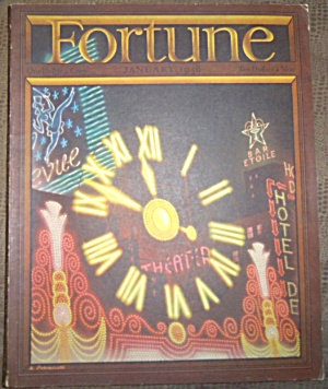 Vintage Fortune Magazine Petruccelli Cover January 1938