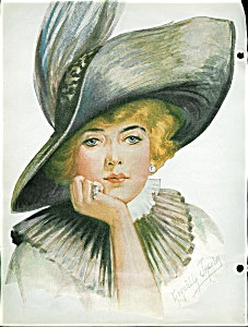 Victorian Lady Feather Hat Scrapbook Page Graziella Jacoby Print