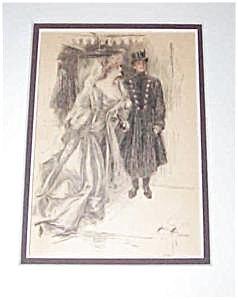 Vintage Harrison Fisher Prints Victorian Couple Romance