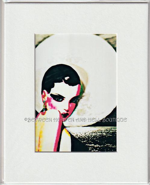 8x10 Metaphysical Print Sexy Art Deco Woman under a Full Moon Moonlight Swim