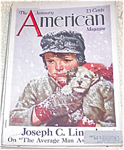 American Magazine Cover Boy & Dog 1/26 Walter Beach Humphrey