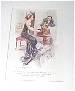 Harrison Fisher Print-couple At The Piano-1909