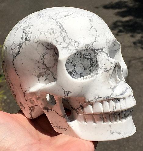 3.3lb Large Activated Howlite Crystal Skull High Vibration Spiritual Energy