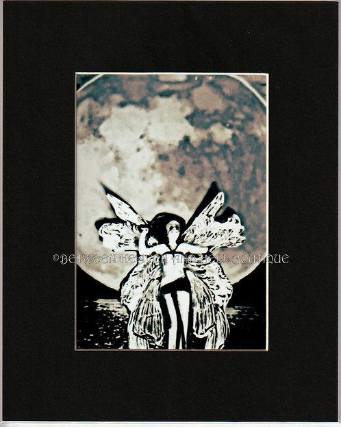 8x10 Print Full Moon Fairy Goddess Altered Art Moonlight Metaphysical Fantasy