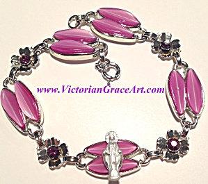 Purple Rhinestone Virgin Mary Bracelet Our Lady Of Grace