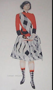 Vintage Coles Phillips Print Scottish Lady Hoot Mon 1911