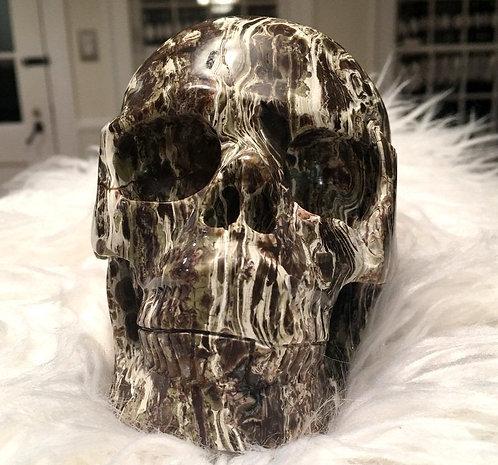 "5.2"" Master EVE Large Activated Crystal Skull Morrisonite Jasper New Beginnings"