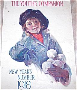 Vintage Magazine Cover Print Claude Emerson Winter Girl