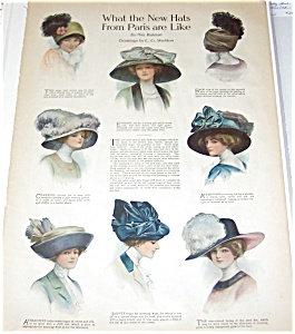 Vintage Fashion Illustration> Paris Hats > Victorian 1910