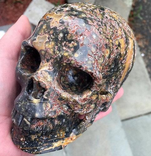 "5.2"" LARGE Atlantean Ocean Jasper Skull Activated Atlantis Stone Crystal Healing"