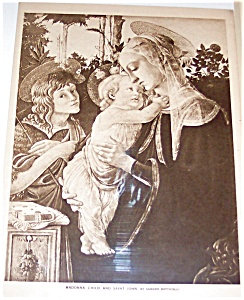 Madonna And St John: Religious Antique & Vintage Prints