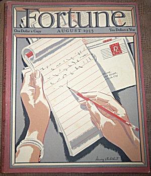 Vintage Fortune Magazine August 1935