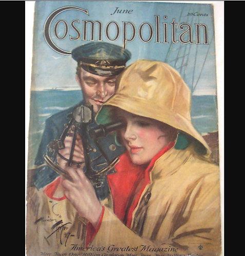 Lady Sea Captain Harrison Fisher Cosmopolitan Cosmopolitan magazine Cover Art