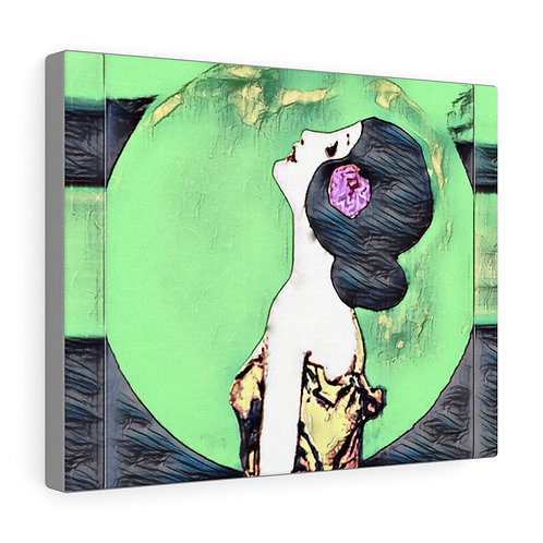 Trendy Metaphysical Print Full Moon Maiden Art Canvas Gallery Wrap Wall Decor