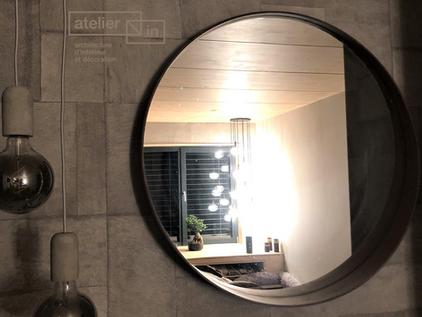 Miroir avec luminaires