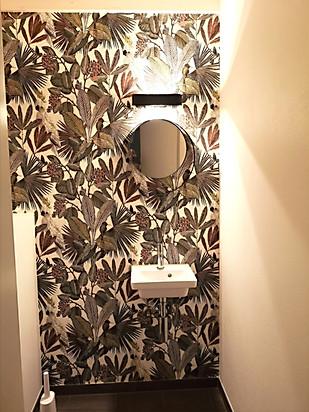 Toilette après