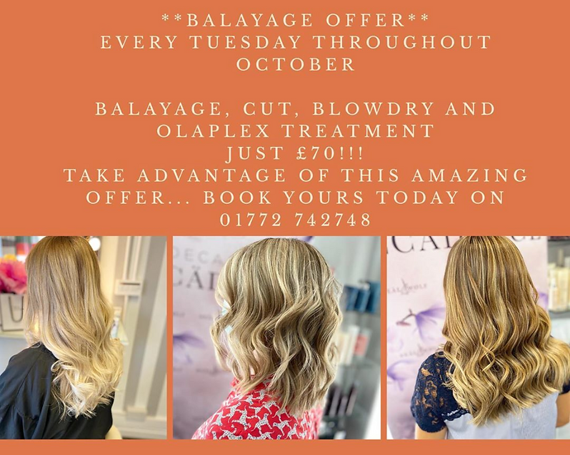Balayage October Offer. JC & Co Penwortham