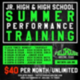 Summer Youth Performance Training