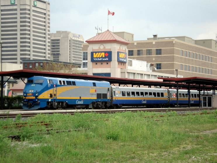 Via Rail station in London, Ont. (picture courtesy of Via Rail).