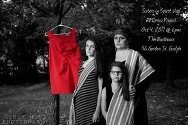 MNO citizen and her daughters participate in the Red Dress Project
