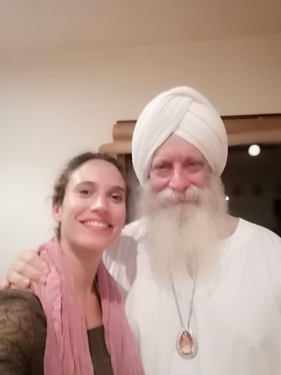 Selfie con Hari Nam Khalsa