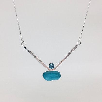 Rainbow Topaz Aqua Seaglass Necklace