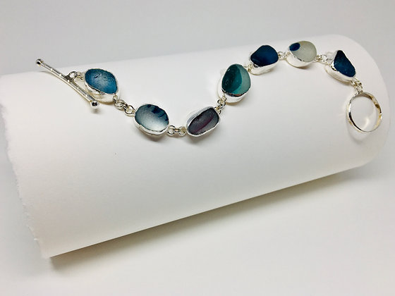 End of Day Seaglass Bracelet