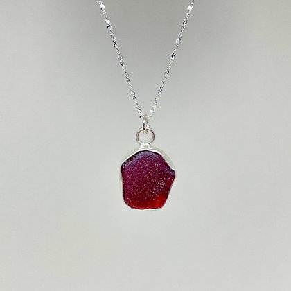 Ruby Red Seaglass