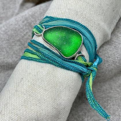 Irish Wrap Seaglass Bracelet