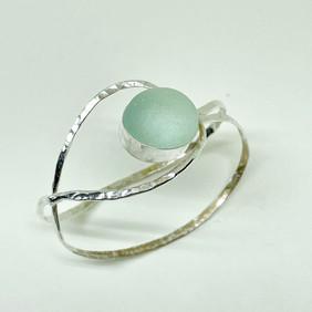 Breeze Seaglass Cuff Bracelet