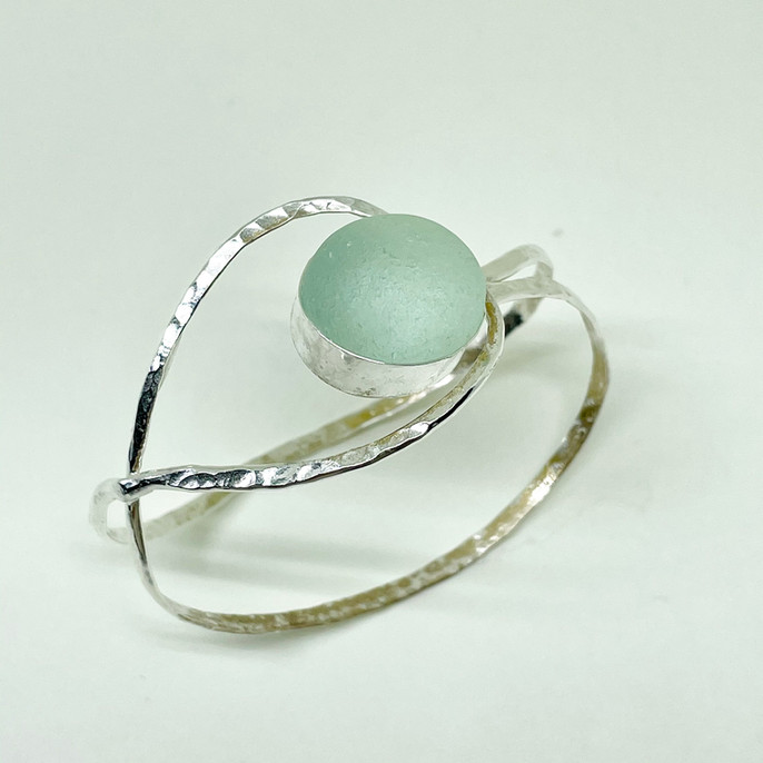 Breeze Seaglass Cuff Bracelet