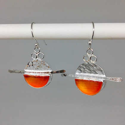 Sunburst Ohajiki Marble Earrings